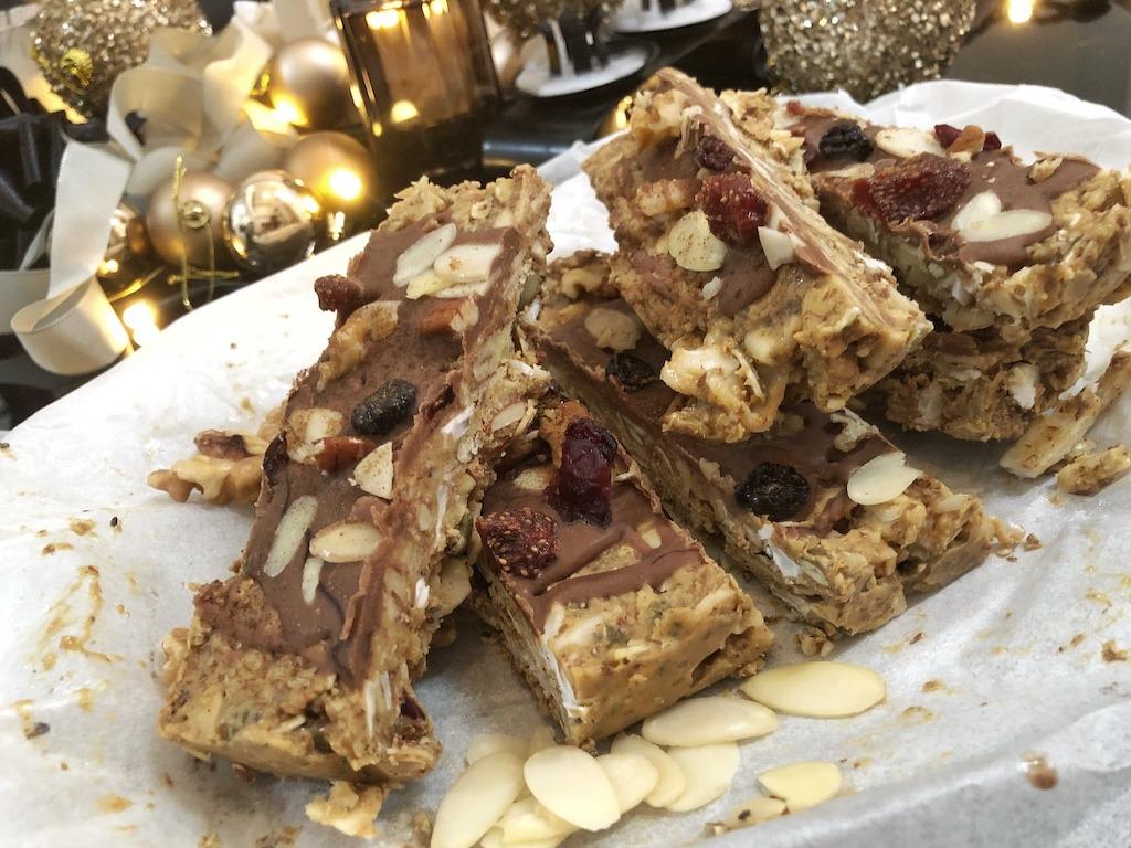 Granola Bar - Homemade Vegan Paleo Keto No Sugar Quick Snack Dessert