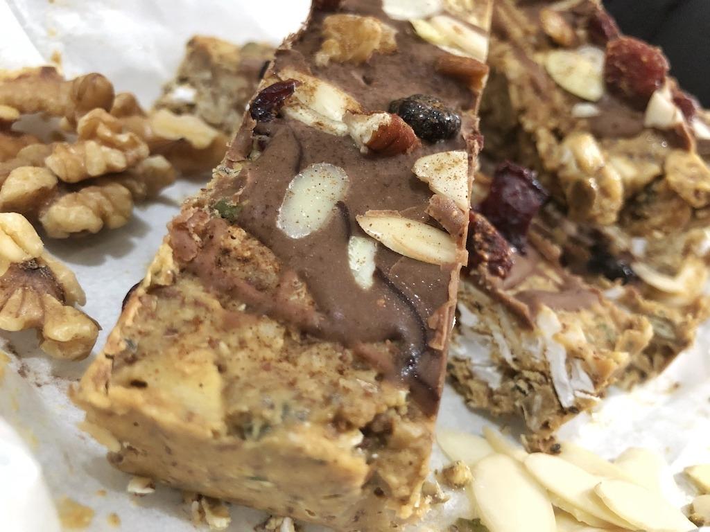 Granola Bar - Homemade Vegan Paleo Keto No Sugar Quick Snack For Party