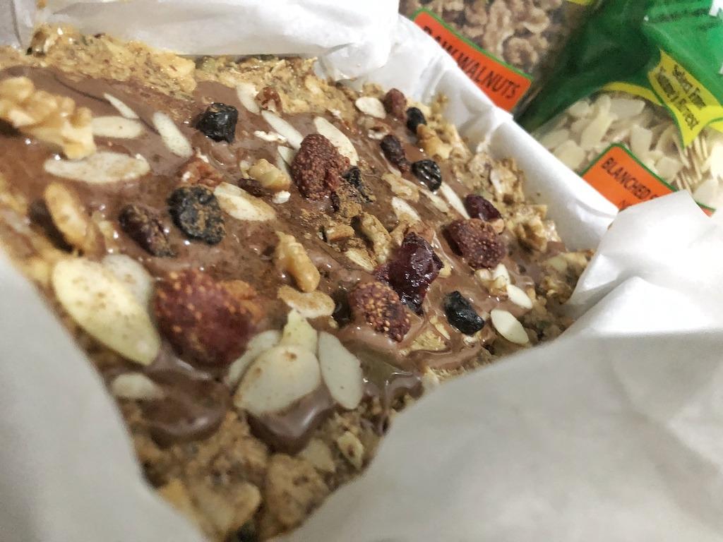 Granola Bar - Homemade Vegan Paleo Keto No Sugar Quick Snack Idea