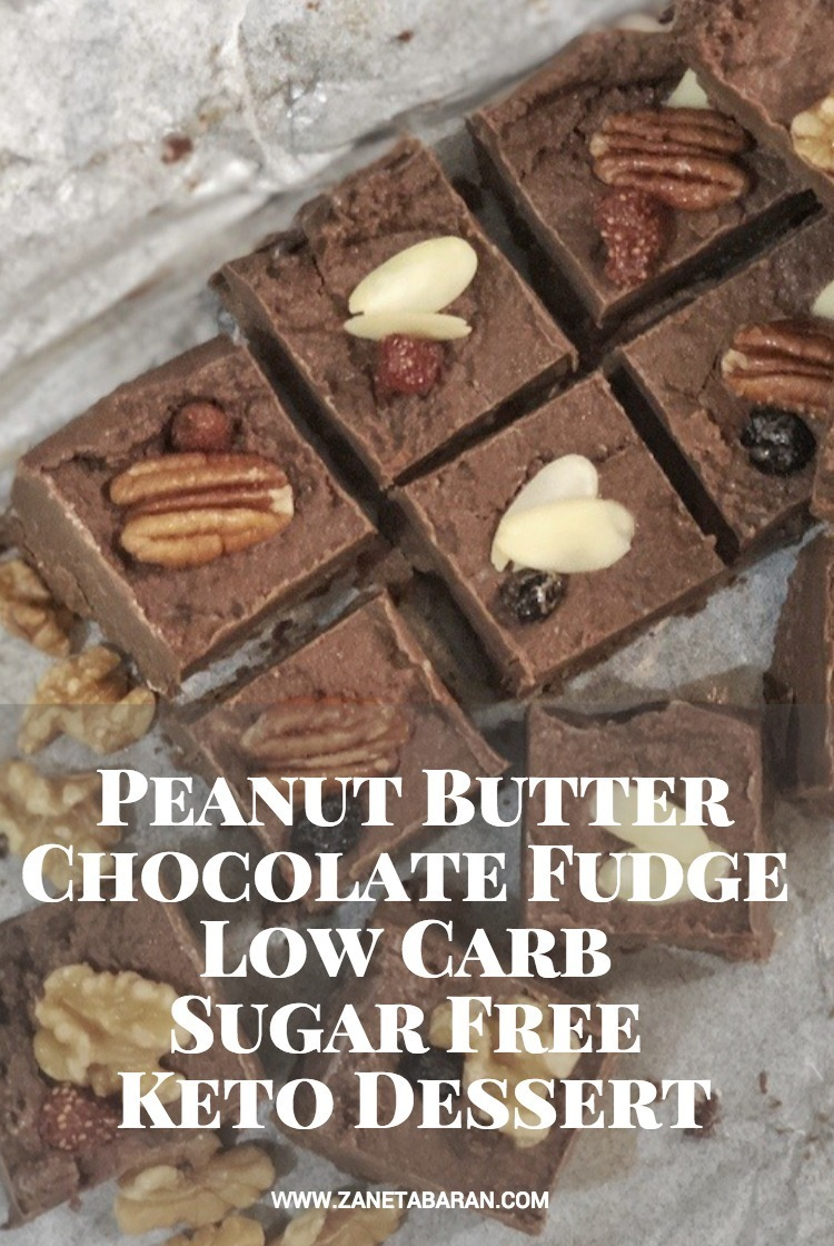 Pinterest Peanut Butter Chocolate Fudge Low Carb Sugar Free Keto Dessert