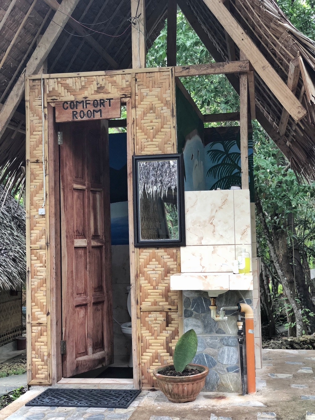 Place To Stay When Travelling To Bohol Panglao – Bohol Coco Farm Toilet