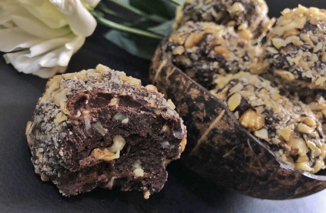 Birthday Dessert Homemade Ferrero Roche - Healthy Keto Fat Bombs Low Carb No Sugar Added