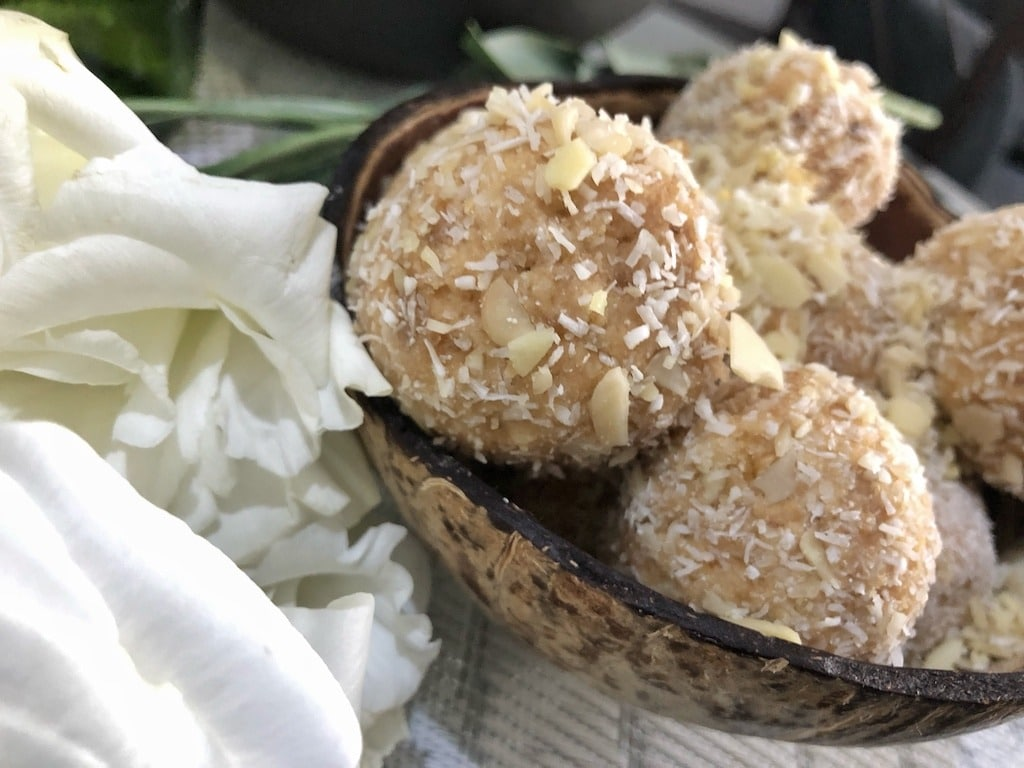 Birthday Homemade Raffaello - Healthy Keto Fat Bombs Low Carb No Sugar Added