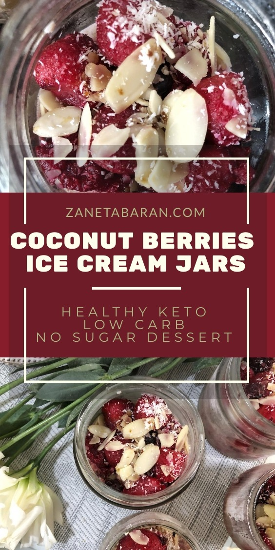 Coconut Berries Jars Dessert