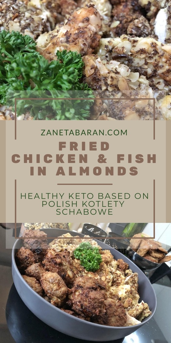 Fried Chicken Fish Almonds
