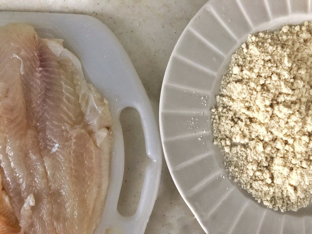 Healthy Keto Fried Chicken And Fish In Almonds Based On Polish Coconut Flour