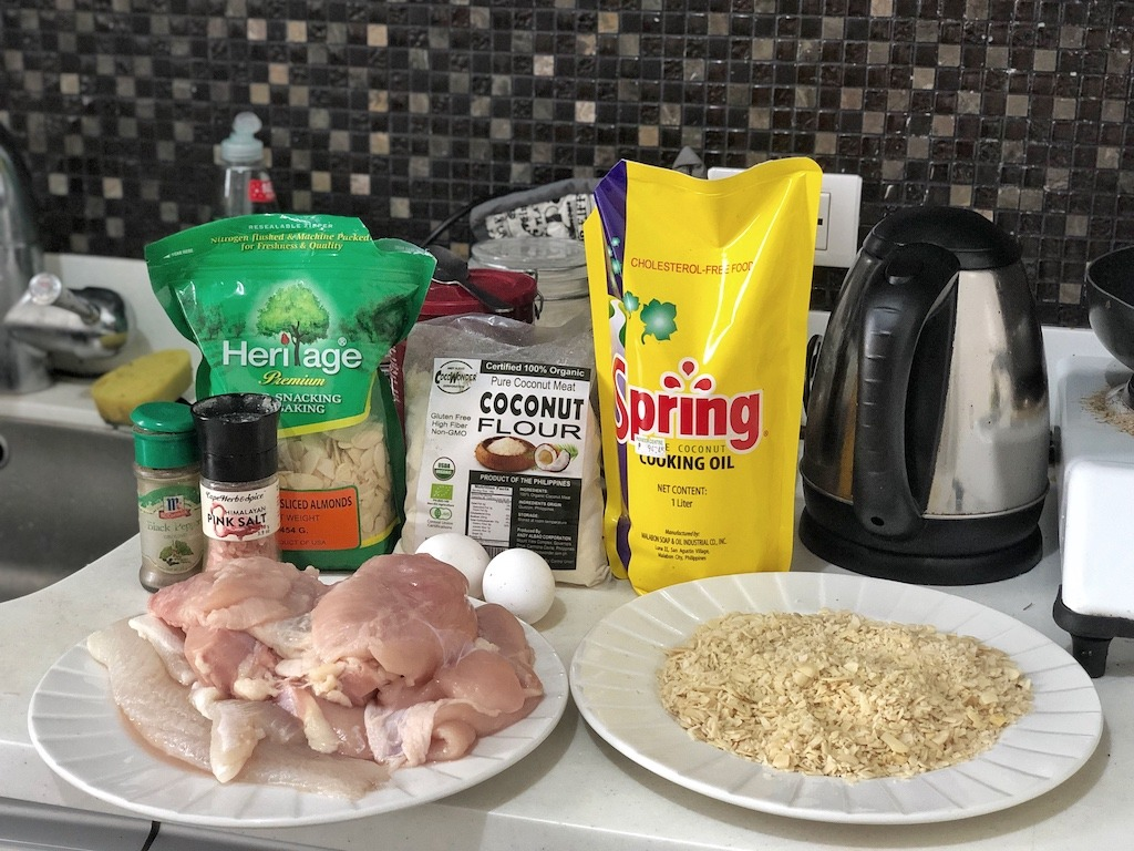 Healthy Keto Fried Chicken And Fish In Almonds Based On Polish Products