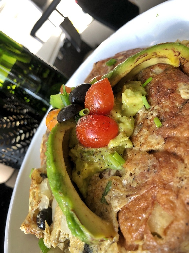 Omelette With Canned Sardines And Avocado For Healthy Keto Pescatarian Breakfast Amazing