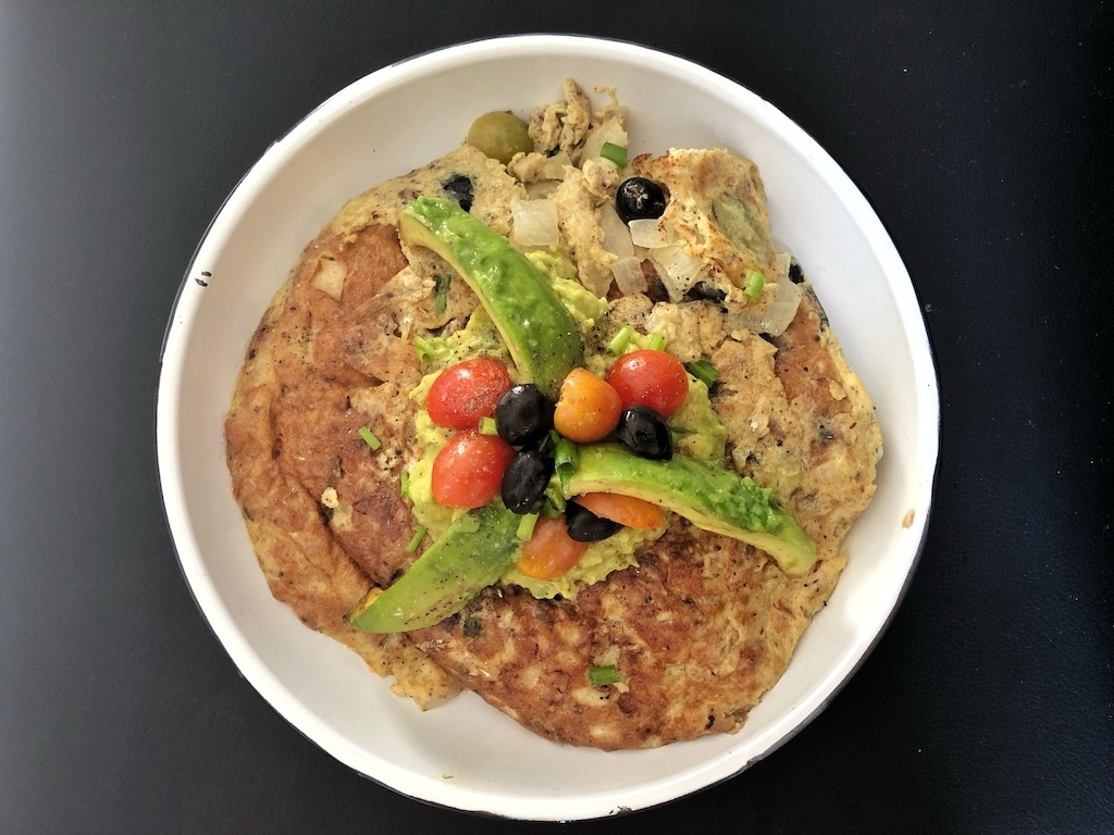 Omelette With Canned Sardines And Avocado For Healthy Keto Pescatarian Breakfast Delicious