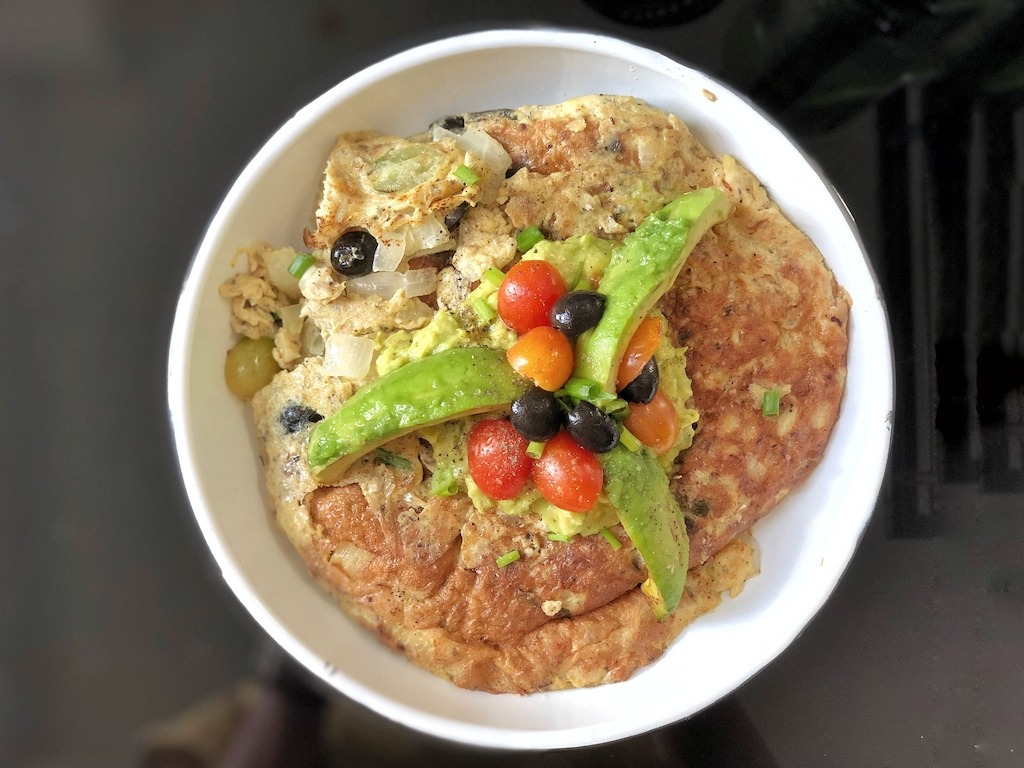Omelette With Canned Sardines And Avocado For Healthy Keto Pescatarian Breakfast For Kids