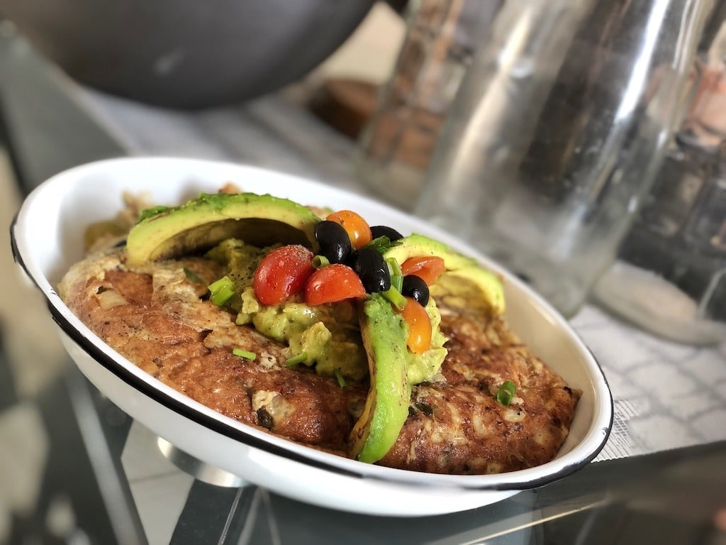 Omelette With Canned Sardines And Avocado For Healthy Keto Pescatarian Breakfast Must Try