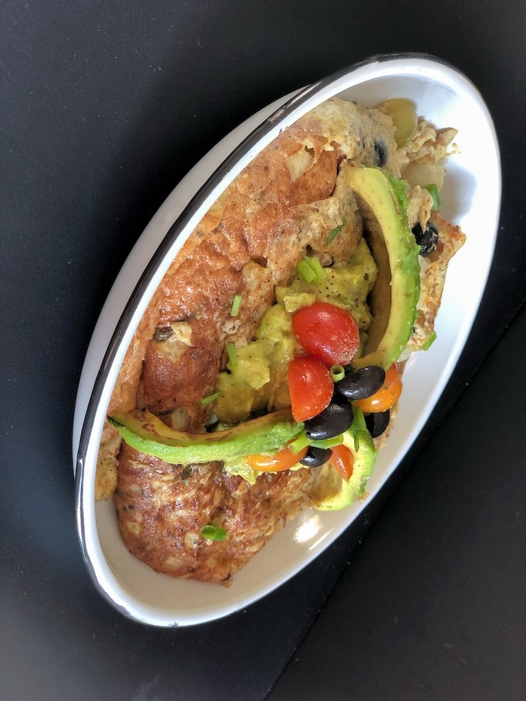 Omelette With Canned Sardines And Avocado For Healthy Pescatarian Breakfast