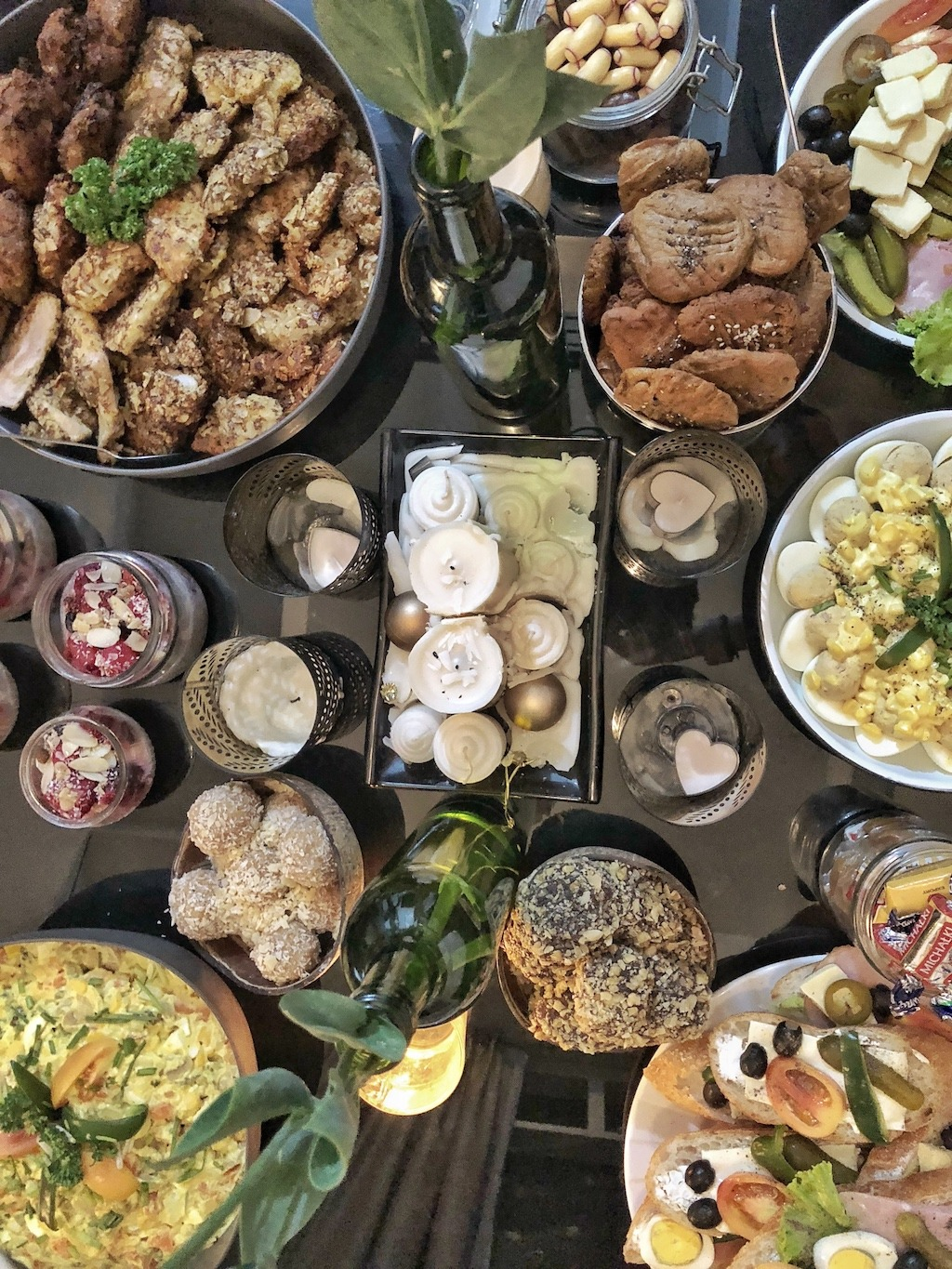 Party Table Homemade Ferrero Roche - Healthy Keto Fat Bombs Low Carb No Sugar Added