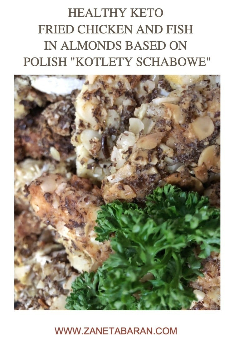 Pin Healthy Keto Fried Chicken And Fish In Almonds Based On Polish Kotlety Schabowe