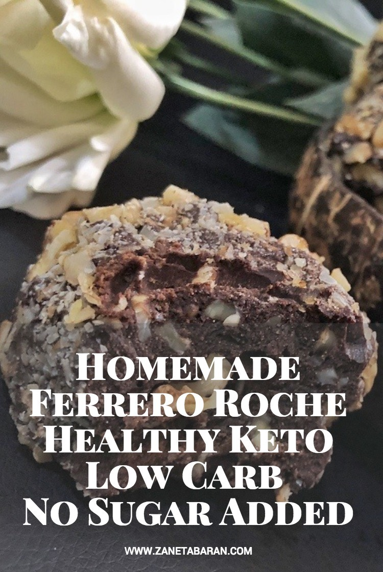 Pinterest Homemade Ferrero Roche – Healthy Keto Low Carb No Sugar Added