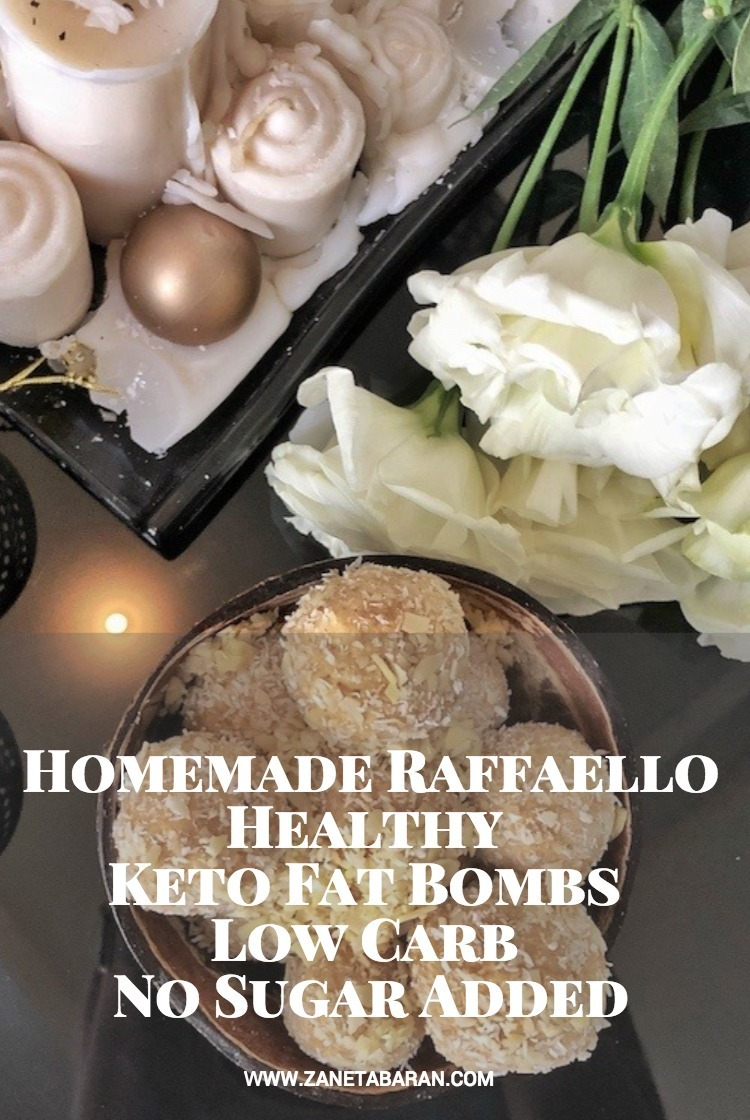 Pinterest Homemade Raffaello – Healthy Keto Fat Bombs Low Carb No Sugar Added