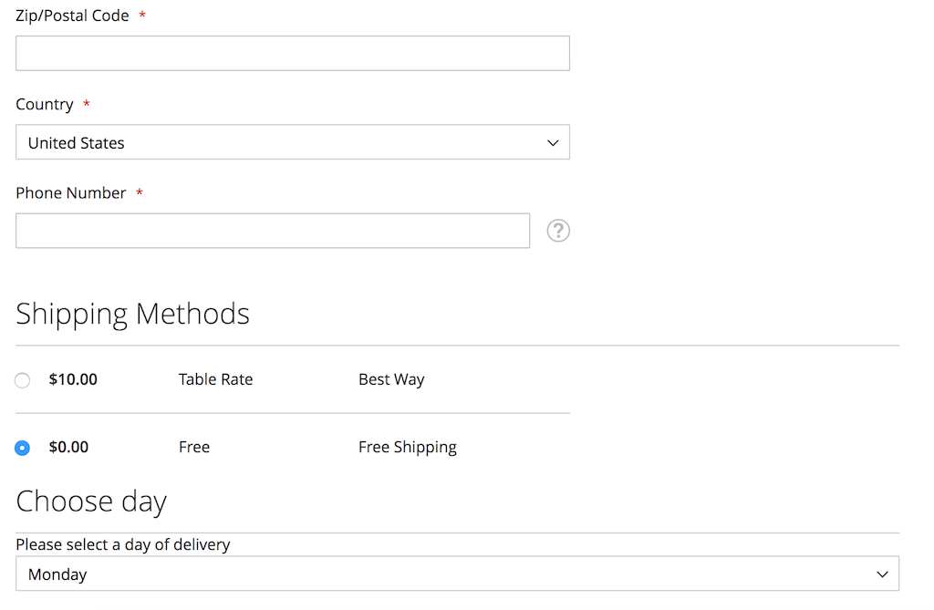 How To In Magento 2 – How To Add Additional Dropdown With Options Based On Selected Shipping Methods In The Checkout Selected Free Shipping