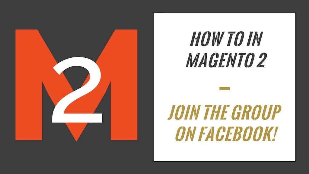 How To In Magento 2 Facebook Group