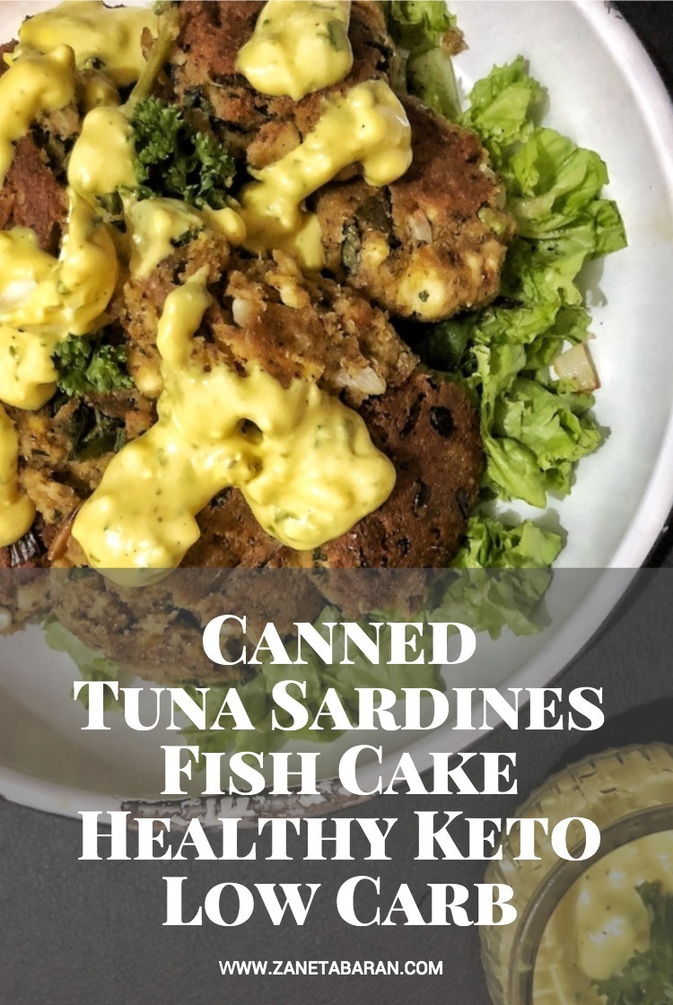 Canned Tuna Sardines Fish Cake - Healthy Keto Low Carb Pin