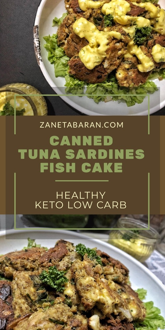 Canned Tuna Sardines Fish Cake - Healthy Keto Low Carb Pinterest