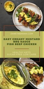 Easy Creamy Mustard BBQ Sauce For Fish Beef Or Chicken - Healthy Keto Sugar Free Low Carb Pinterest