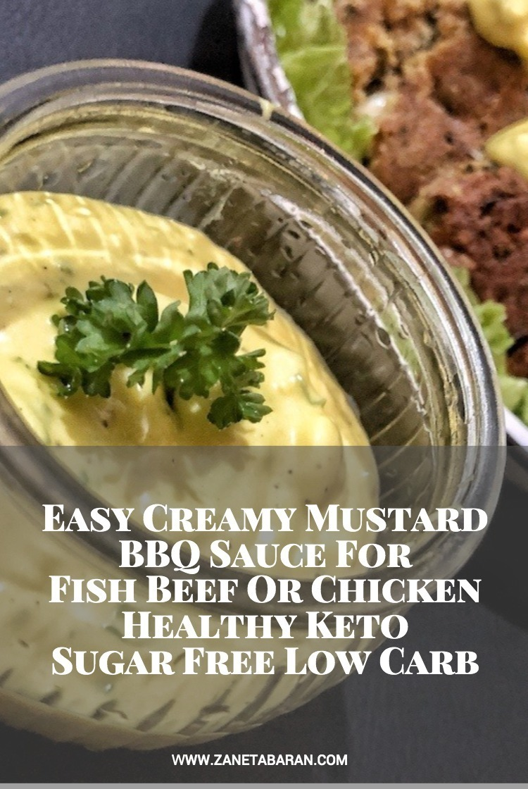 Pin Easy Creamy Mustard BBQ Sauce For Fish Beef Or Chicken - Healthy Keto Sugar Free Low Carb