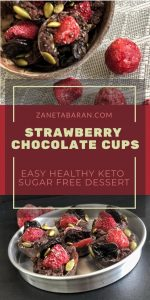 Pinterest Strawberry Chocolate Cups - Easy Healthy Keto Sugar Free Dessert
