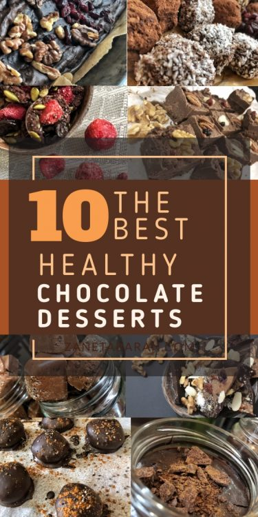 Healthy Chocolate Dessert Pin