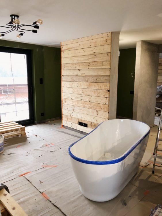 Bathroom Renovation Bath Progress