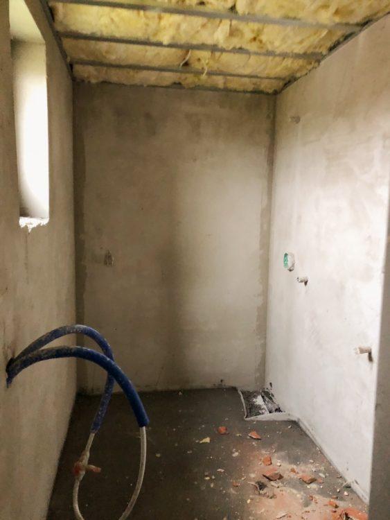 Bathroom Renovation Walls In Progress