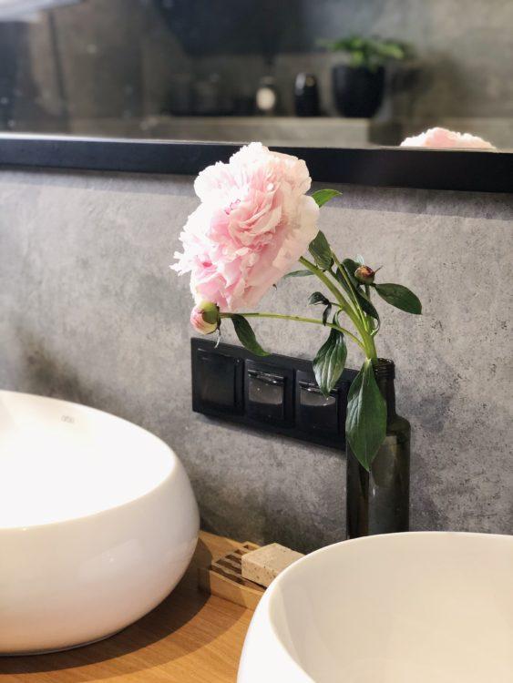 Flower Decor Bathroom Makeover Interior Design