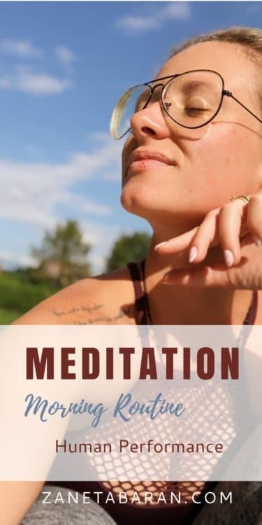 Meditation - Morning Routine - Human Performance Pinterest