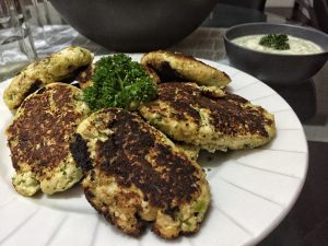 Low Carb Paleo Cauliflower Broccoli & Coconut Flour Fritters